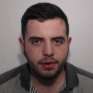 Daniel Cowell, 25, used a stolen Transit van as a weapon to ram a fleeing police car.