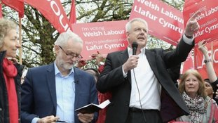 Corbyn visits a Welsh Labour conference in shock