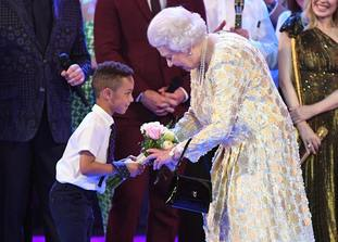 Flowers for the Queen from birthday boy, seven year old Mason