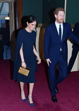 Prince Harry was accompanied by his fiancee Meghan Markle (
