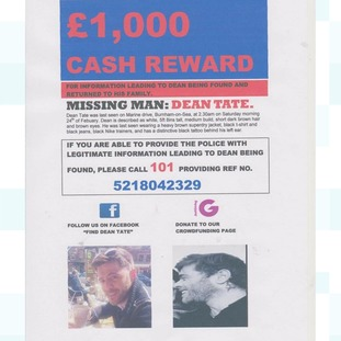 £1,000 reward was offered for information leading to Dean being found and returned to his family.