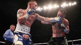 Frampton's featherweight title plans on track after win over Donaire