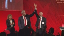 Corbyn pays tribute to Carwyn Jones at Welsh Labour conference