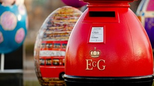 Giant egg designed like a post box