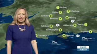 Sunday evening's weather for the west