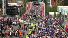 Fans flock to Wembley to support Southampton's FA Cup semi-final bid