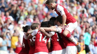 Arsenal overpower West Ham with late flurry of goals