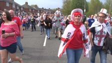 Thousands showed up to celebrate St. George's Day in West Bromwich.