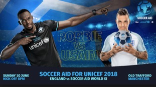 Robbie Williams reveals more stars for Soccer Aid team