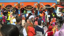 Thousands joined the Vaisakhi festival in Leicester.