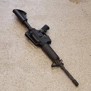 The rifle used by the gunman.