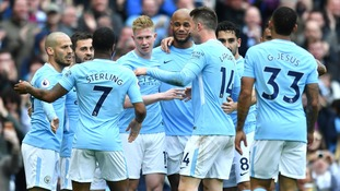 City celebrate title in style with thumping win over Swansea