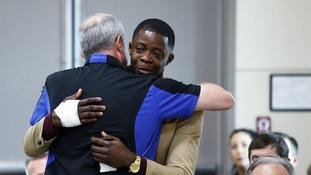 Gunman 'was cussing' when I took his firearm, says Waffle House hero