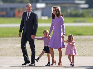The Duke and Duchess of Cambridge and their children, Prince George and Princess Charlotte.