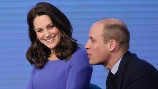 The Duke and Duchess of Cambridge during the first Royal Foundation Forum in central London