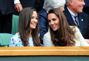 The Duchess of Cambridge and her sister Pippa.