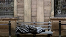 Homeless Jesus statue installed in Manchester city centre