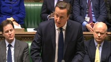 David Cameron delivering his statement on Algeria in the Commons