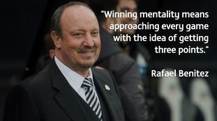 Rafael Benitez has praised Newcastle's winning mentality
