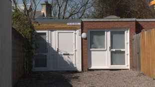 The two former garages in Easton are now properties.