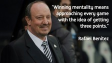 Rafael Benitez has praised Newcastle's winning mentality