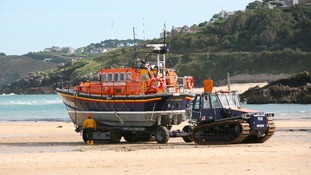 Lifeboat on beach