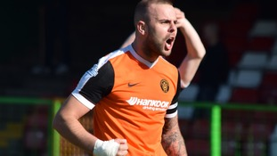 Carrick Rangers celebrated their crucial victory over Glentoran