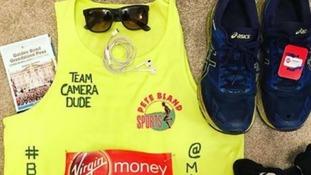 Matt's marathon running kit