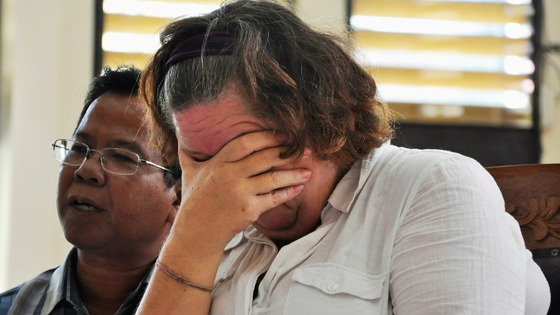 Sandiford weeps as she is told she will face the death sentence