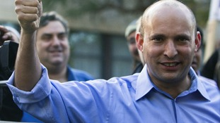 Jewish Home leader Naftali Bennett has strong among West Bank settlers