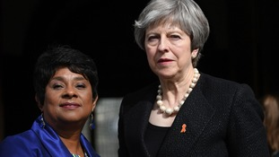 Baroness Lawrence and Prime Minister Theresa May attend the memorial.