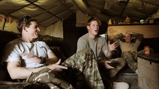 Prince Harry with Captain Simon Beattie