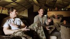 Prince Harry with Captain Simon Beattie