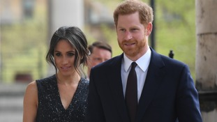 Prince Harry and Meghan Markle arrive at a memorial service at St Martin-in-the-Fields in Trafalgar Square, London, to commemorate the 25th anniversary of the murder of Stephen Lawrence.