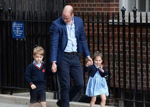 The Duke of Cambridge with Prince George and Princess Charlotte