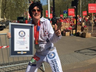 Stacey Harper finished the London Marathon in 3hrs 49 mins and secured a world record.
