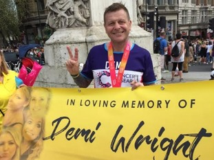 Chris Wright made a promise to his daughter Demi at her hospital bedside that he would run the London marathon in her memory.