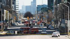 Emergency services close Yonge Street in Toronto (Nathan Denette/The Canadian Press via AP)