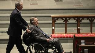 George HW Bush taken to hospital with blood infection
