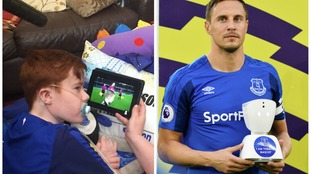 Robot helps 14 year old become Everton's first virtual mascot