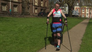 Paralysed Norfolk man completes London Marathon