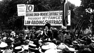 Who was suffragist Millicent Fawcett, the first woman to have a statue in Parliament Square?