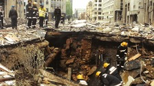 Never seen before photos of Bishopsgate bomb aftermath