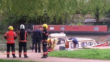 Three people have been injured in an explosion on a river cruiser in Ely.
