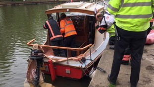 The explosion and fire was on a boat on the River Great Ouse in Ely, Cambridgeshire.