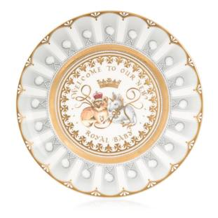 The china plate commemorating the birth of the Duke and Duchess of Cambridge's third child (Royal Collection Trust/Her Majesty Queen Elizabeth II 2018/PA)