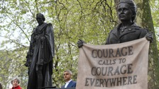 Millicent Fawcett statue makes history in Parliament Square