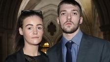 Alfie's parents Tom Evans and Kate James