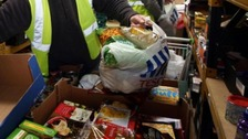 27,000 of those using food banks were children according to the Trussell Trust