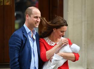 The Duke and Duchess of Cambridge and their newborn son. (Dominic Lipinski/PA)